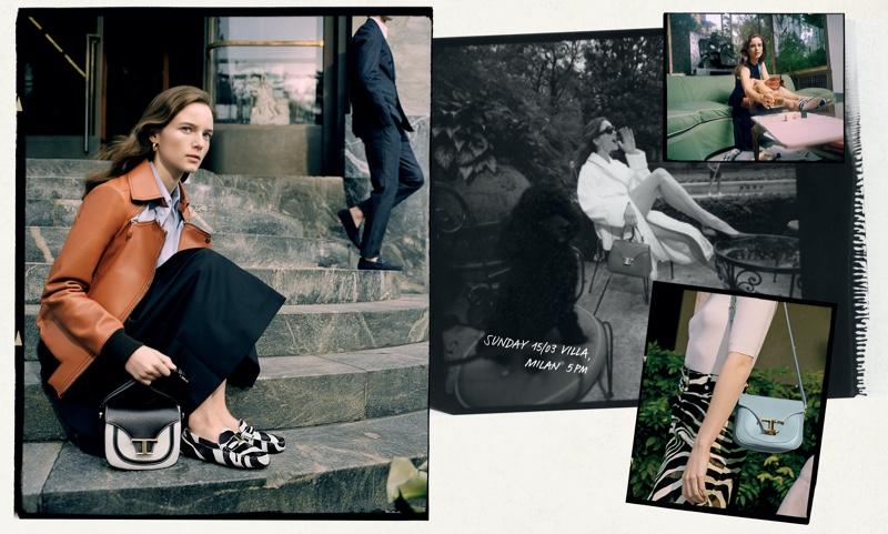 Model Anna de Rijk appears in Tod's spring-summer 2020 campaign