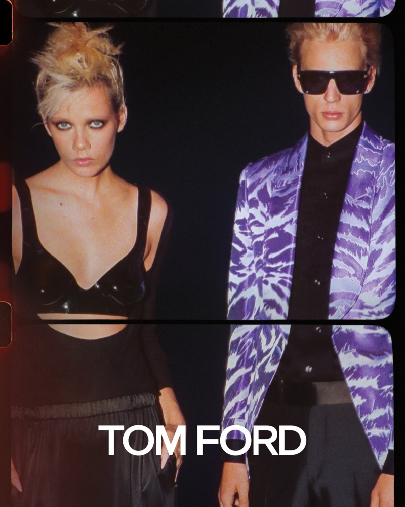 Marjan Jonkman and Chris Stelczer front Tom Ford spring-summer 2020 campaign