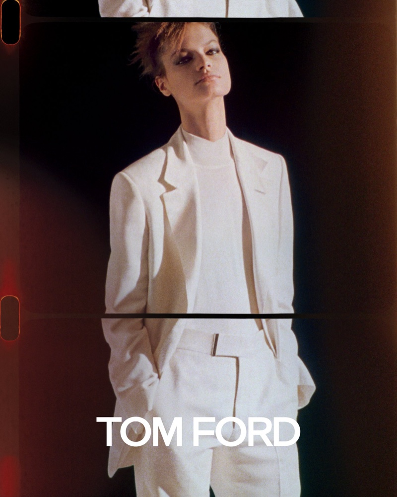 Faretta appears in Tom Ford spring-summer 2020 campaign