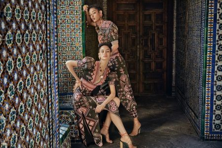 Africa Penalver and Damaris Goddrie star in Ulla Johnson spring-summer 2020 campaign