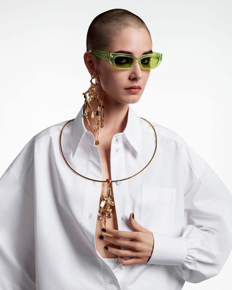 Joanna Krneta poses for Valentino spring-summer 2020 campaign