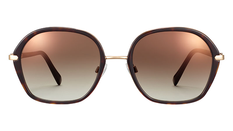Warby Parker Florie Sunglasses in Cognac Tortoise with Polish Gold $195