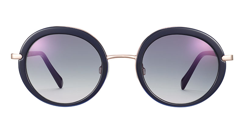 Warby Parker Harriet Sunglasses in Lapis Crystal with Rose Gold $195