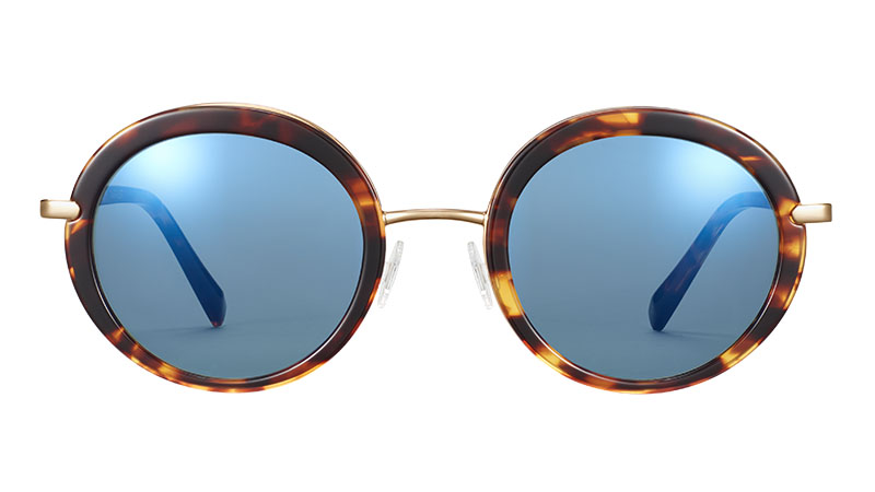 Warby Parker Harriet Sunglasses in Root Beer with Polished Gold $195