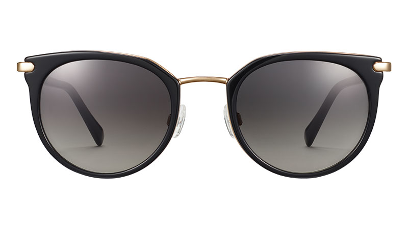 Warby Parker Whittier Sunglasses in Jet Black with Gold $195
