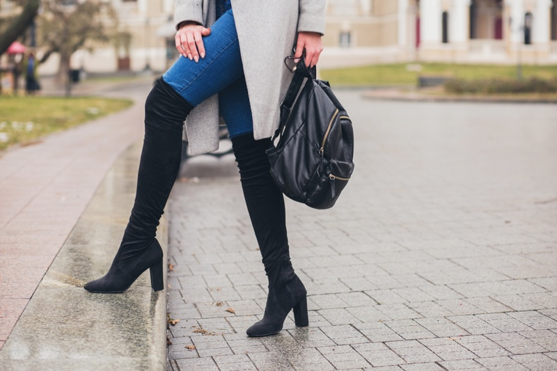 Woman Jeans and Boots