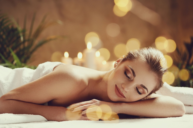 Woman Smiling Massage Beauty