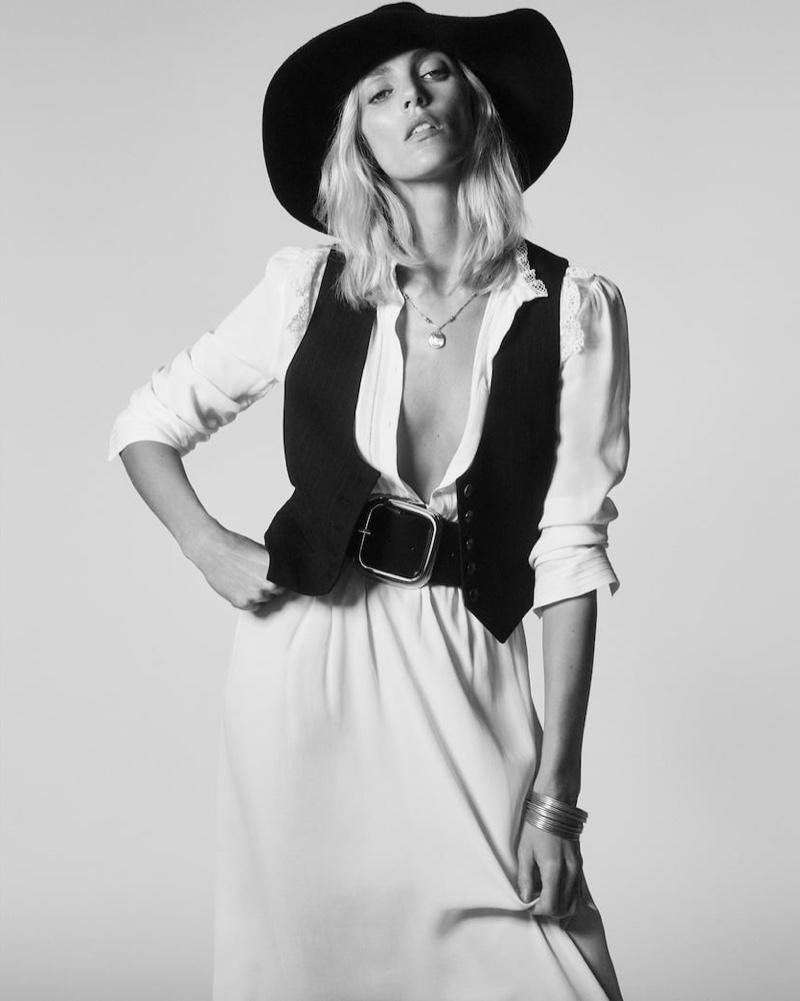 Anja Rubik stars in Zara Born in the 70s spring-summer 2020 editorial