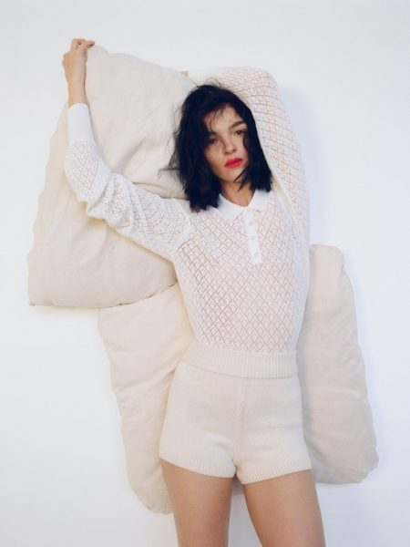 Mariacarla Boscono Models Zara's Spring 2020 Knitwear