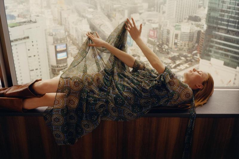 Rianne van Rompaey stars in Zara Crossover spring-summer 2020 editorial
