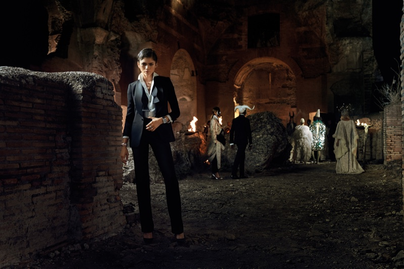 Zendaya poses in Rome for Bulgari Mai Troppo campaign