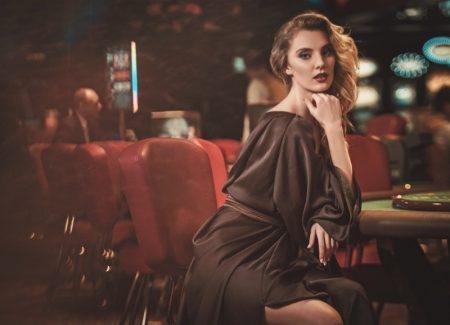 Attractive Woman Casino Dress Table