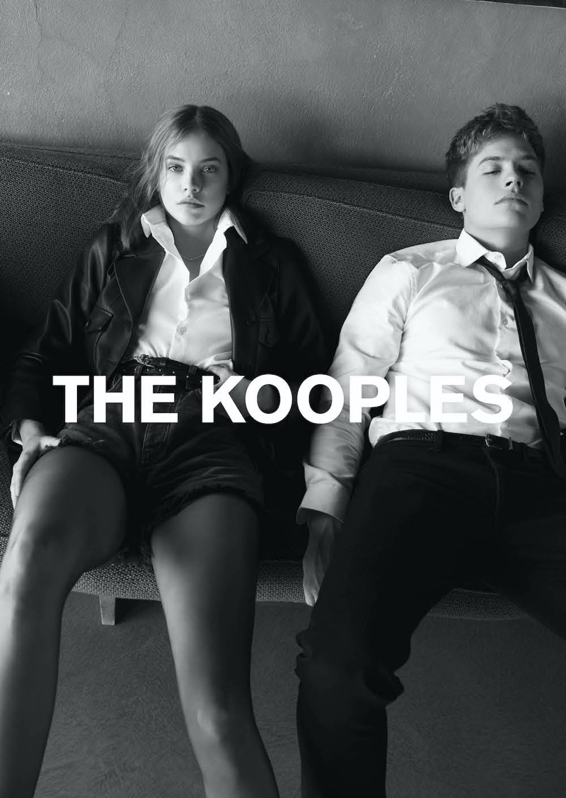 Model Barbara Palvin and actor Dylan Sprouse appear in The Kooples spring-summer 2020 campaign