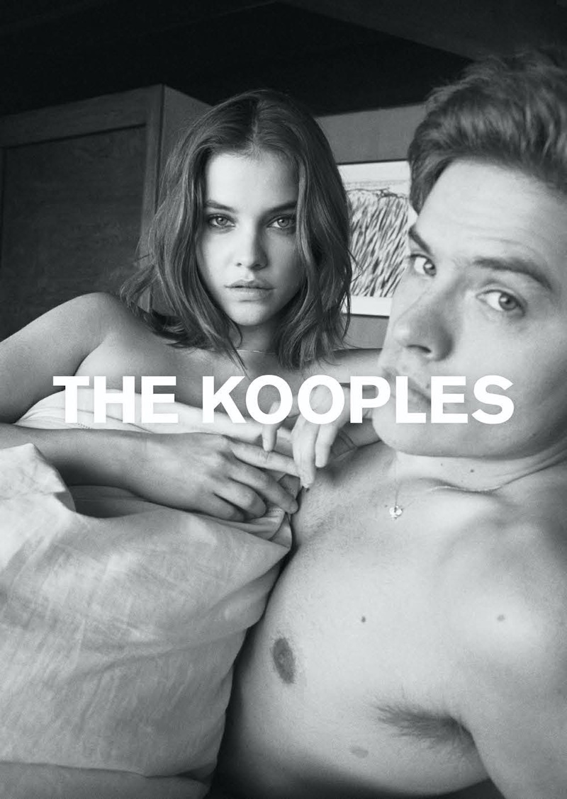 Barbara Palvin and Dylan Sprouse pose topless in The Kooples spring-summer 2020 campaign