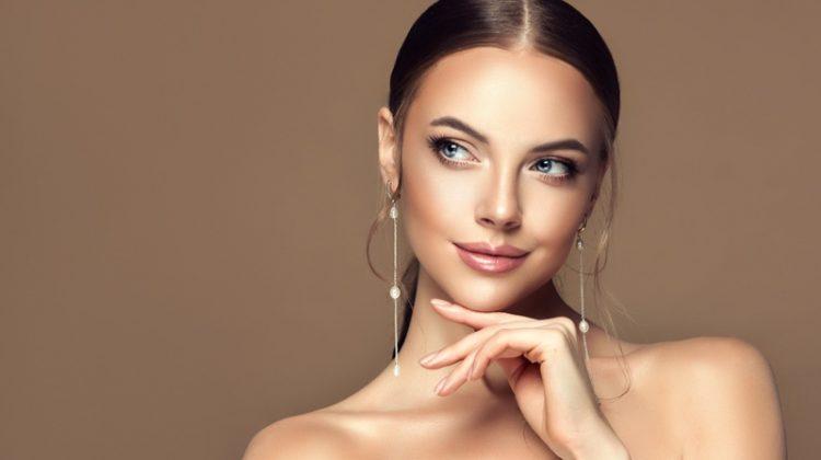 Beauty Jewelry Hanging Silver Earrings