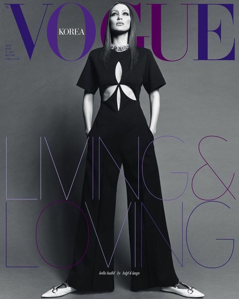 Bella Hadid on Vogue Korea April 2020 Cover