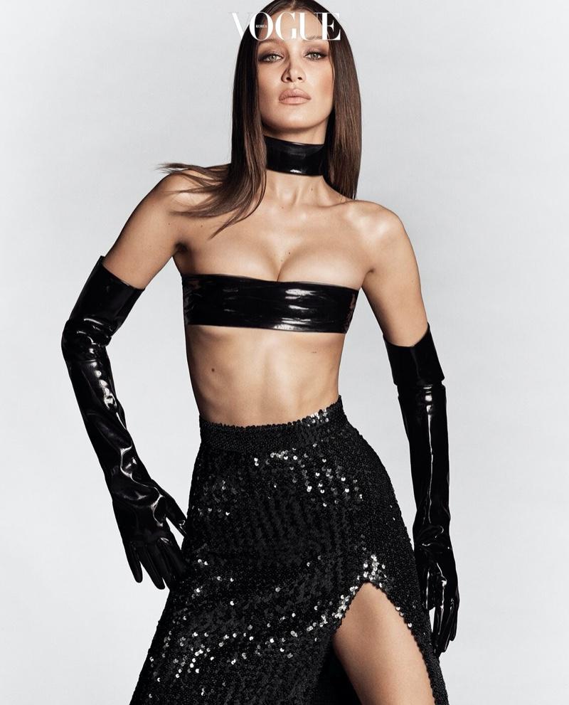 Bella Hadid Turns Up the Heat for Vogue Korea