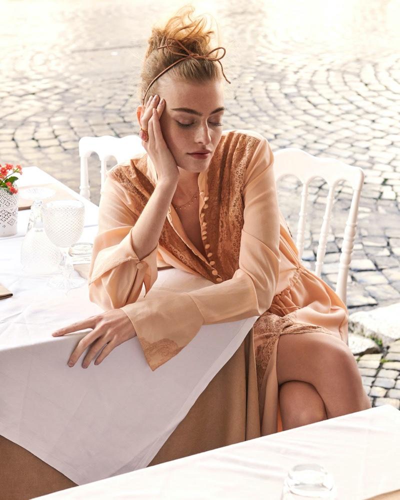 Berit Heitmann Poses in Romantic Looks for In the Mood Magazine