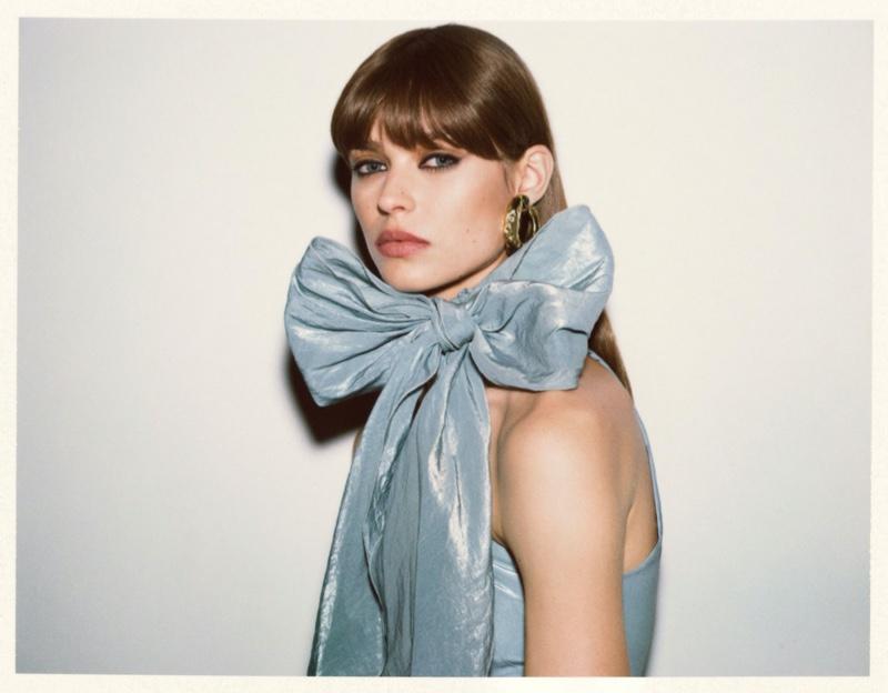 Birgit Kos Models Glam 1970's Inspired Fashion for Russh