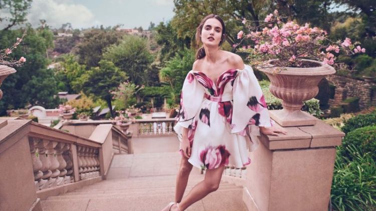 Blanca Padilla Wears Elegant Spring Trends for Bergdorf Goodman