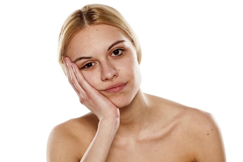 Blonde Woman No Makeup Beauty Bare Face