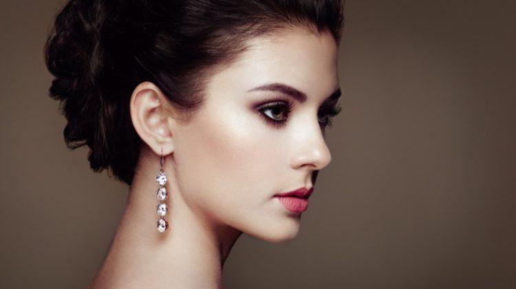 Brunette Model Earrings