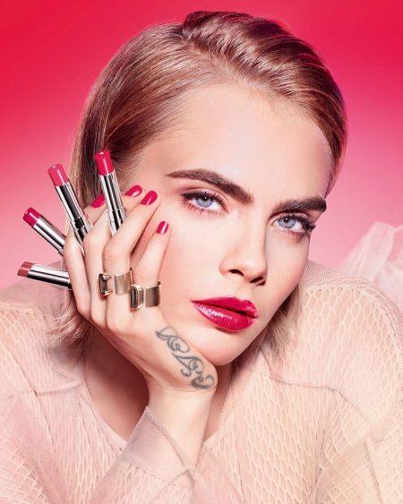 Cara Delevingne stars in Dior Addict Stellar Halo Shine Lipstick campaign