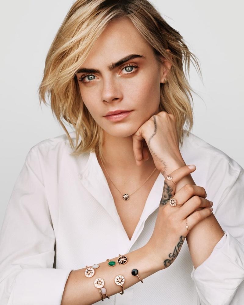 Cara Delevingne stars in Dior Joaillerie Rose des Vents 2020 campaign