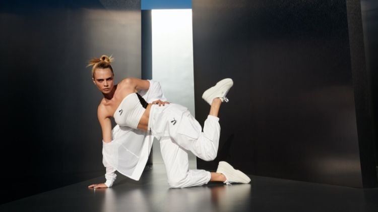 PUMA unveils Deva White sneaker campaign with Cara Delevingne