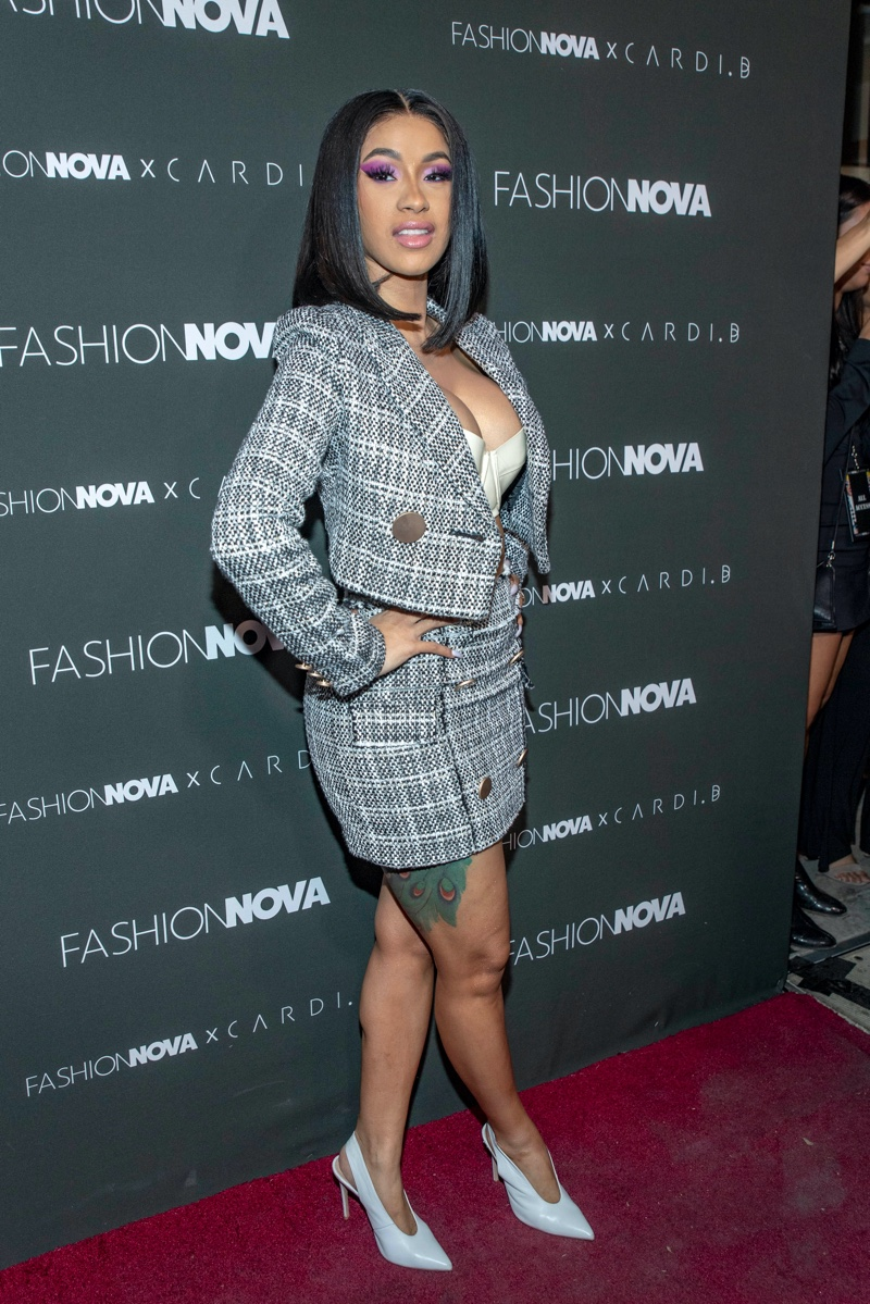 Cardi B at Fashion Nova event