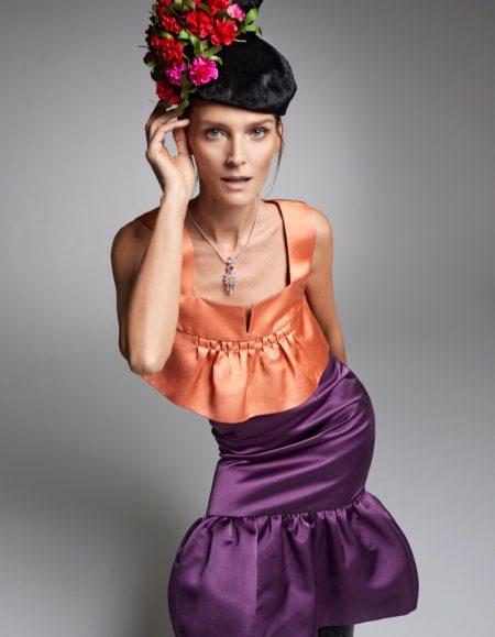 Carmen Kass Models Statement Styles for Harper's Bazaar Spain