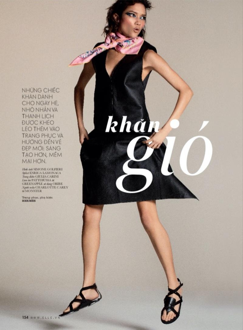 Charlotte Carey Embraces Whimsical Fashion for ELLE Vietnam