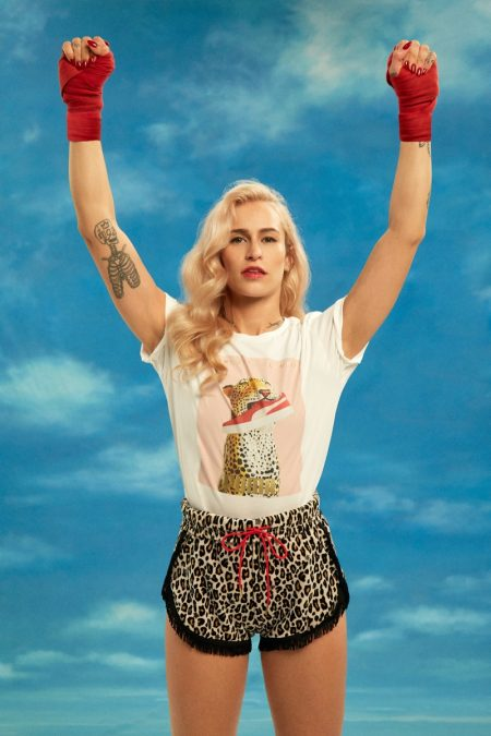 Alice Dellal is A Knockout in Charlotte Olympia x PUMA Collaboration