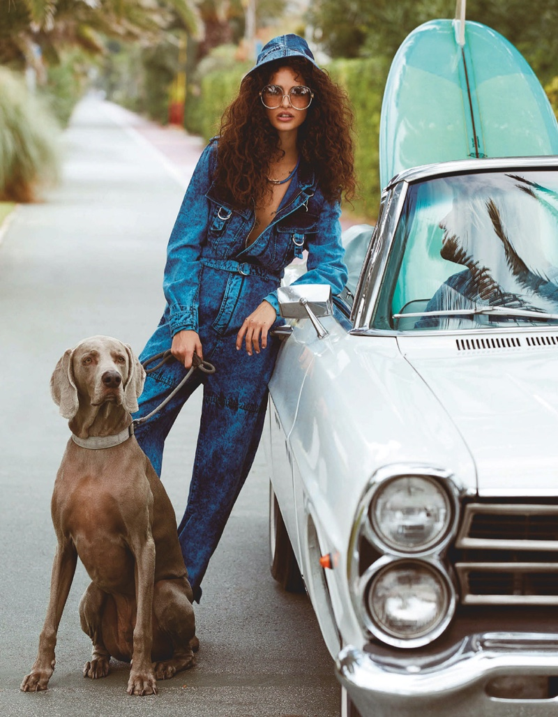 Chiara Scelsi Poses in Elevated Denim for Vogue Japan