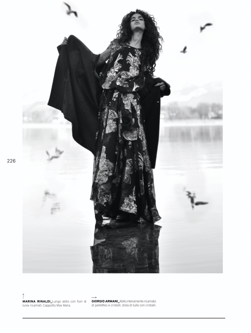 Chiara Scelsi Wears Romantic Looks for L'Officiel Italy