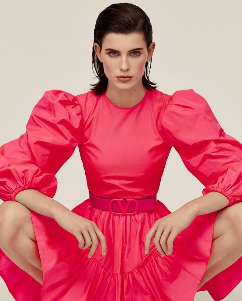Claudia Lavender Models Spring Trends for The Observer