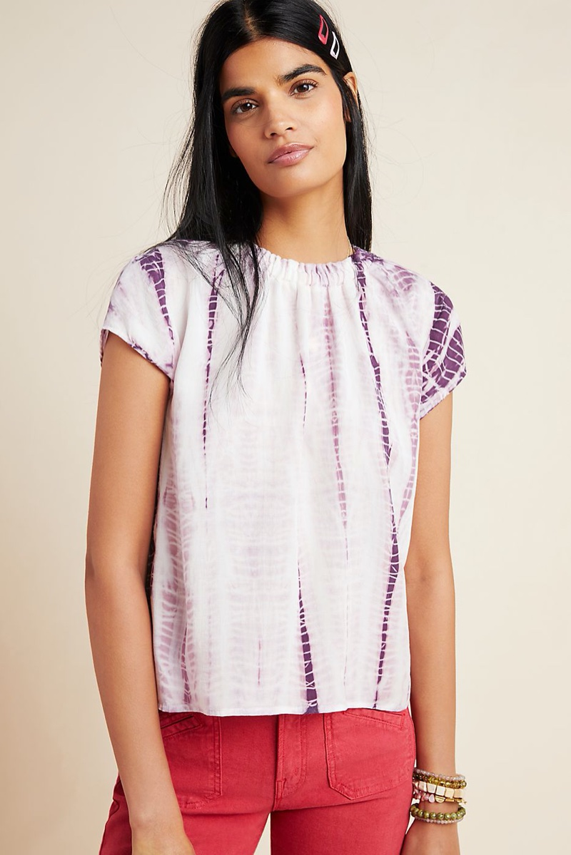 Cloth & Stone Tie-Dyed Blouse $88