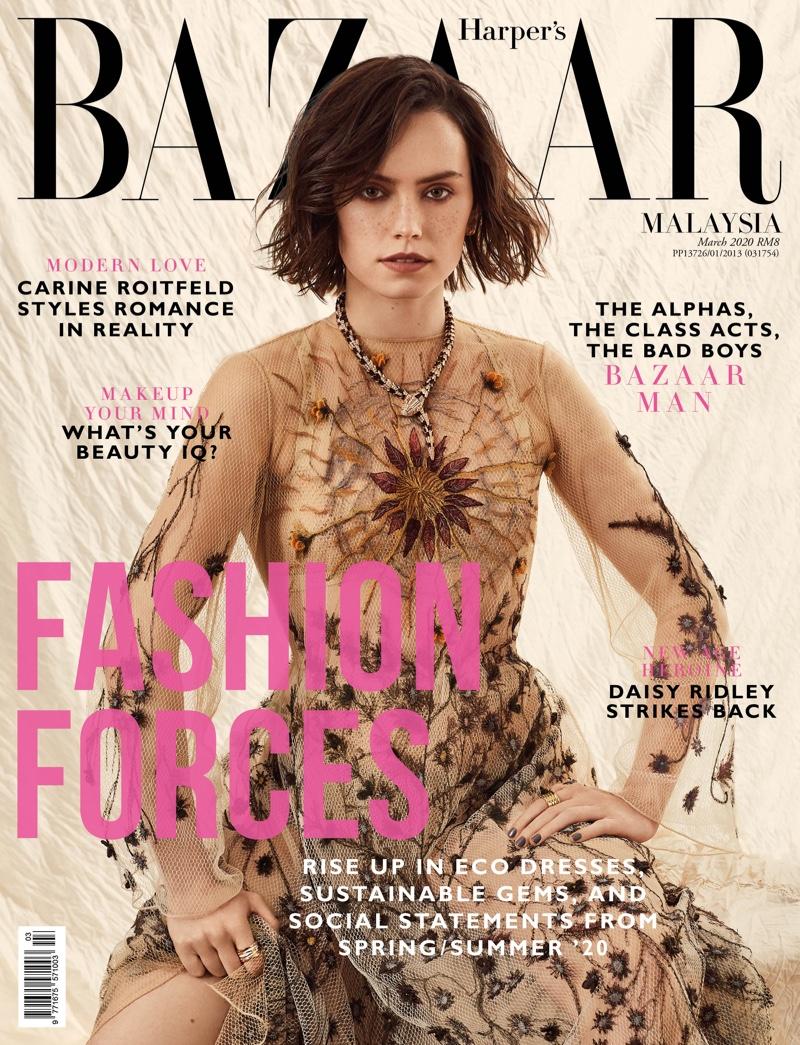 Daisy Ridley on Harper's Bazaar Malaysia March 2020 Cover