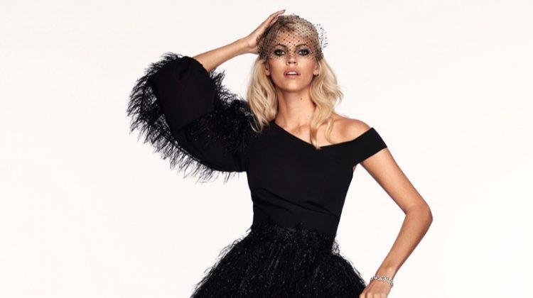 Devon Windsor Wears Glamorous Dresses for ELLE Slovenia