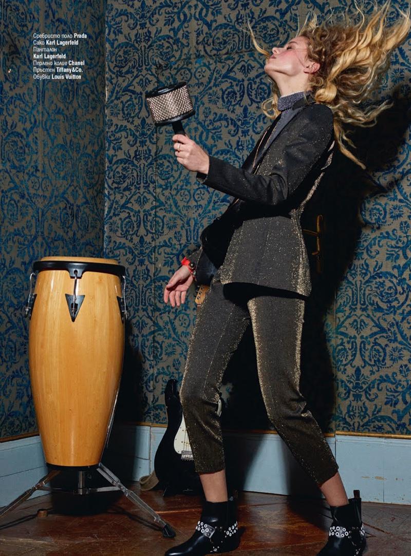 Dominika Ruskova Wears Rocking Style for Cosmopolitan Bulgaria