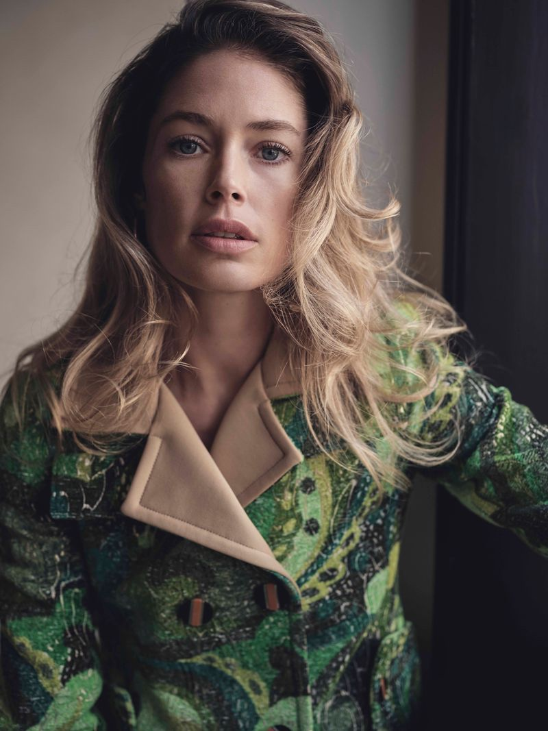 Doutzen Kroes Poses in Elegant Looks for Sunday Times Style