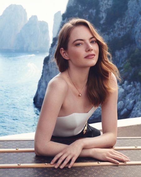Actress Emma Stone fronts Louis Vuitton Heures d'Absence fragrance campaign