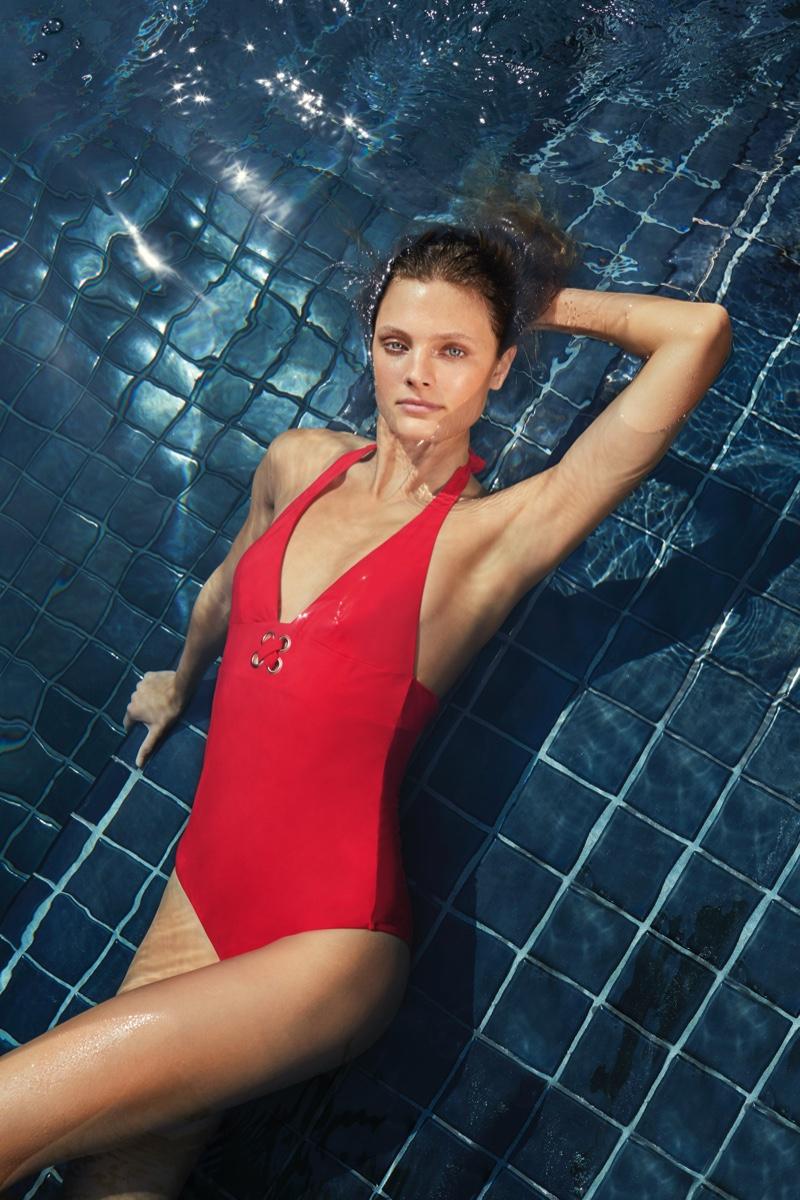 Constance Jablonski dives into Etam swimwear spring-summer 2020 campaign