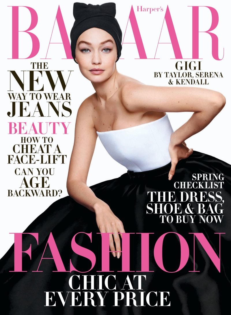 Gigi Hadid Enchants for the Pages of Harper's Bazaar