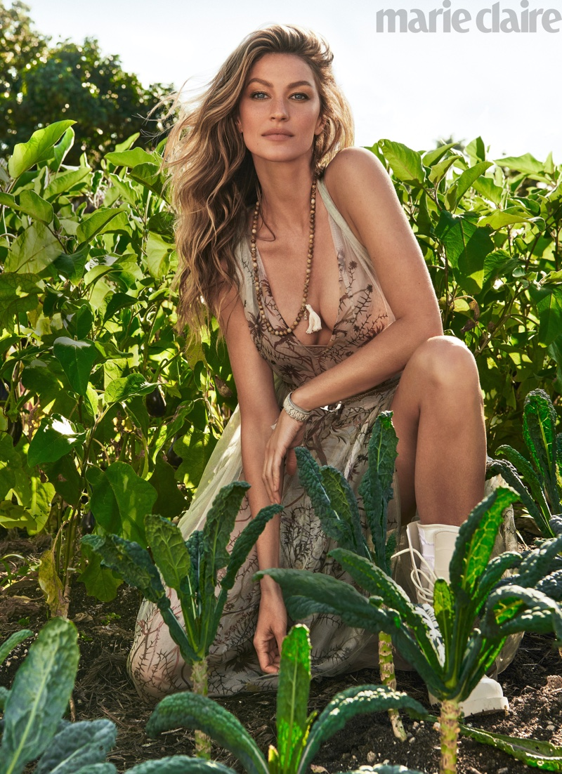 Gisele Bundchen Takes On Outdoor Style for Marie Claire