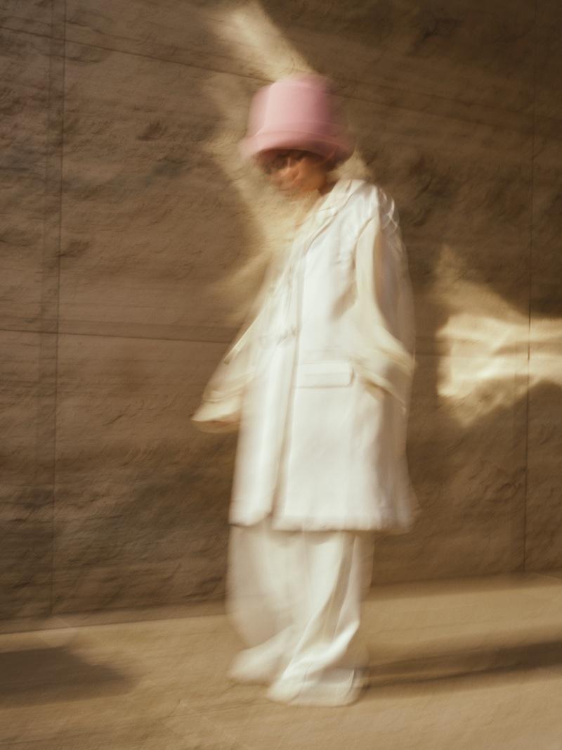 Photographed by Arale Reartes, Greta Fernandez wears relaxed styles