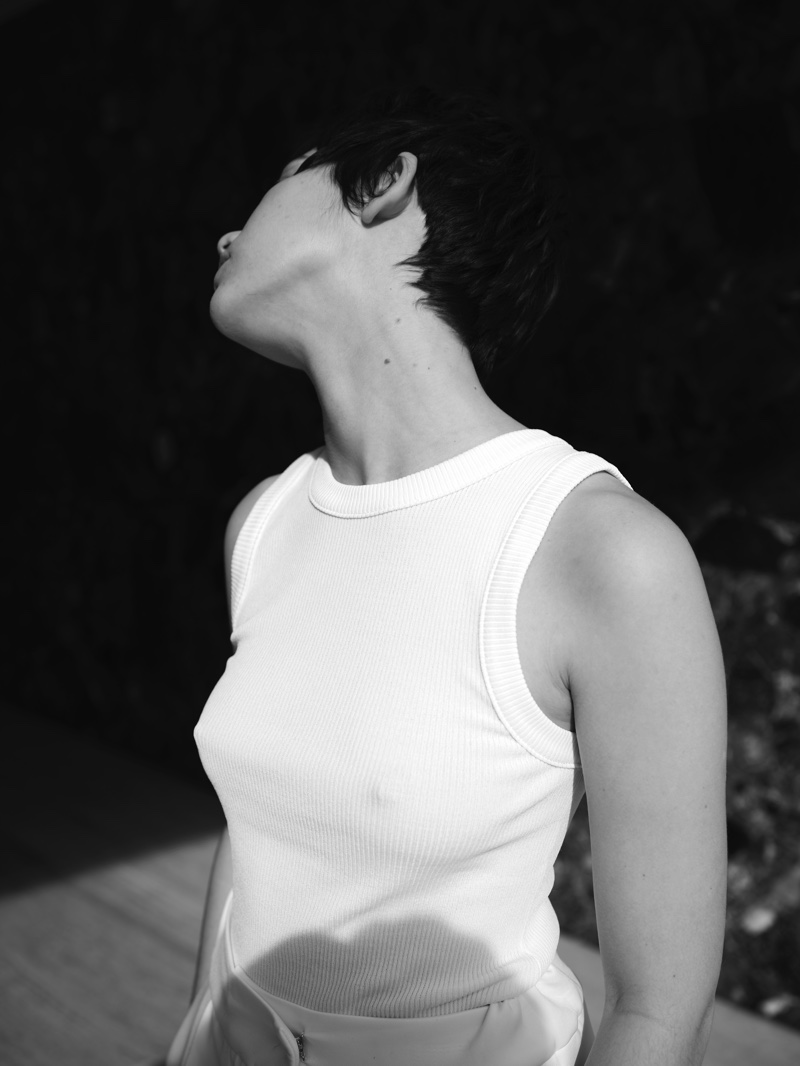 Actress Greta Fernandez wears a sleeveless top