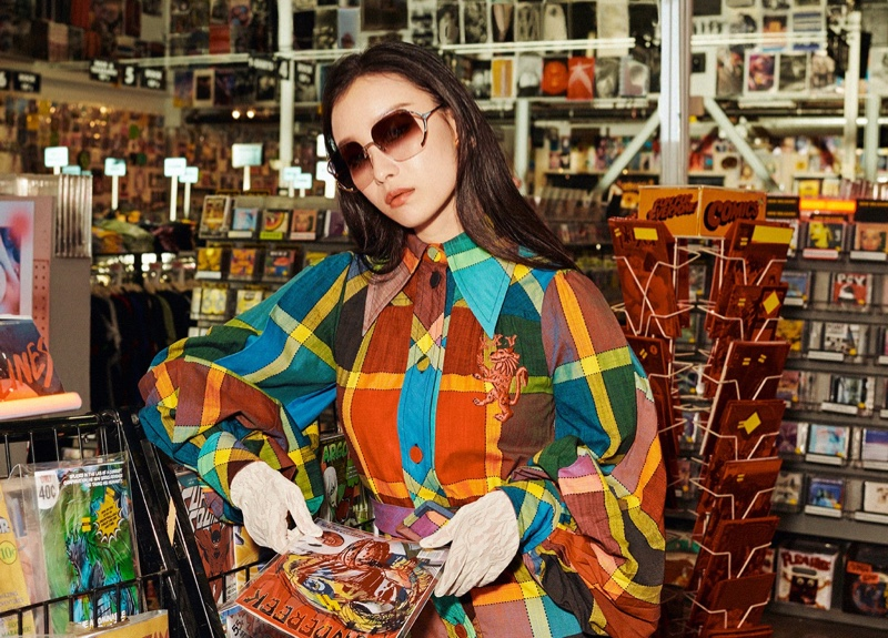NiNi poses for Gucci Eyewear spring-summer 2020 campaign