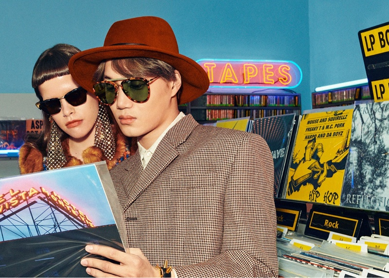 Gucci sets spring-summer 2020 eyewear campaign in a record store