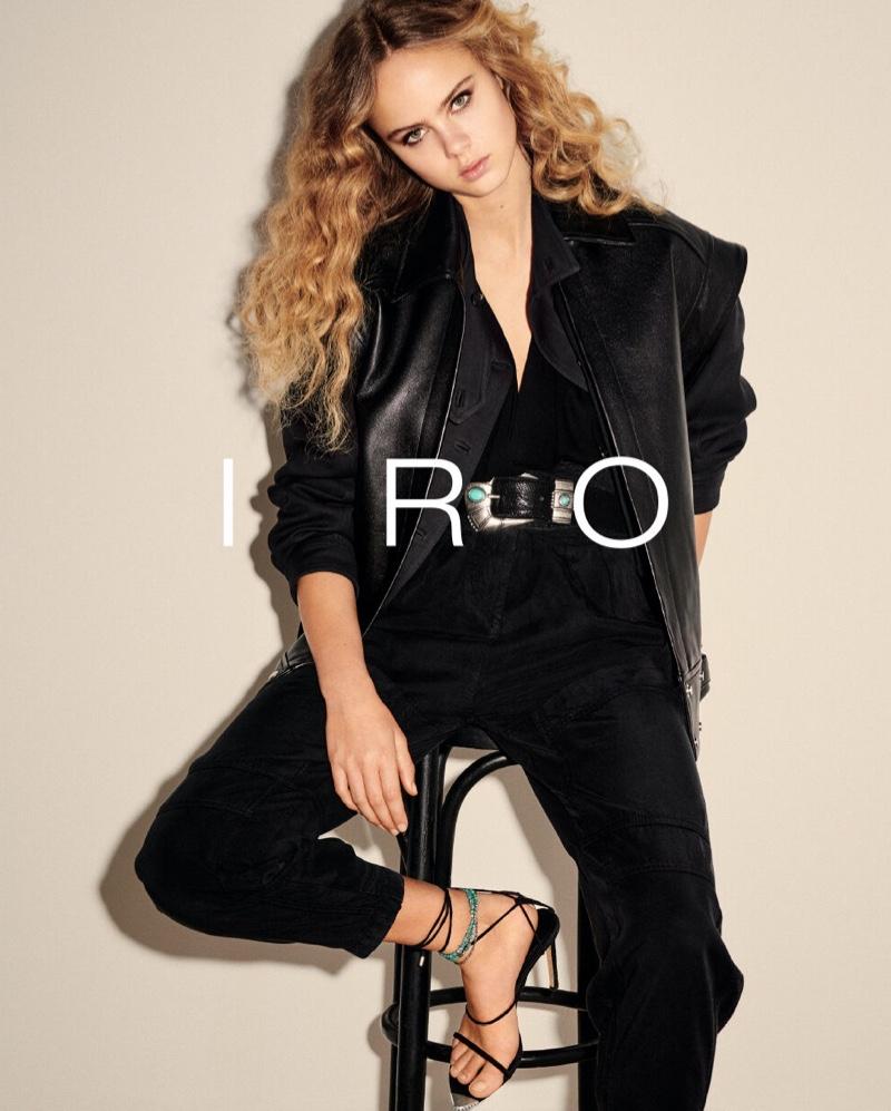 Model Olivia Vinten fronts IRO spring-summer 2020 campaign